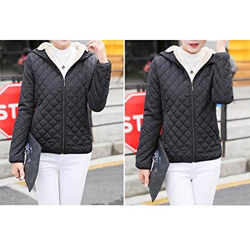 Hiver Vest pour Femme Mode Couleur Unie Sweat à Capuche Courte Fermeture Eclair Manteau à Manches Longues avec Poche Décontractée Automne Outwear Tops Noir