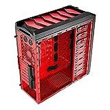 Aerocool Xpredator X1 Midi-Tower PC-Gehäuse (micro-ATX, 3x 5,25 externe, 6x 3,5/2,5 interne, USB 3.0) schwarz/rot