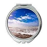 Specchio, Specchio da viaggio, nuvole da spiaggia oceano, specchio tascabile, specchio portatile