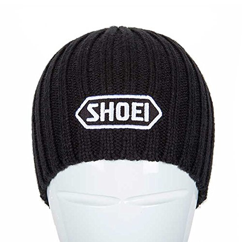 Shoei Motorcycle Helmets Acrylic One Size Beanie Hat - Black