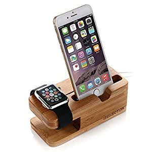 apple watch stand holz bambus ladestation ladeger t. Black Bedroom Furniture Sets. Home Design Ideas
