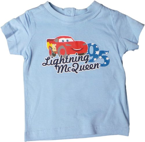 Disney Cars Baby T-Shirt - Lightning Mc Queen Sternenstar 95 - Blau