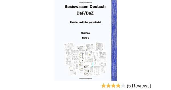 Basiswissen Deutsch Dafdaz Zusatz Und übungsmaterial