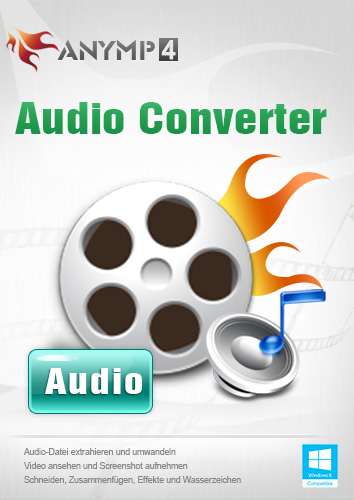 AnyMP4 Audio Converter 1 Year License - Video/Audio in Audioformate wie MP3, WAV, WMA, ALAC, M4A usw. umwandeln [Download]