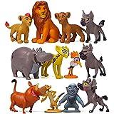 De-Lite Kidzel Simba The Lion Jungle King Pack of 12 Mini Figures Toys Cartoon Family Children Kids Set