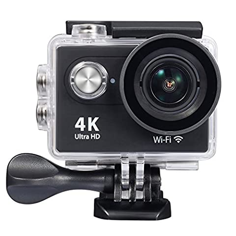 (2017 New Upgrade)Raynic Ultra HD 4K WIFI Sports Action Camera Waterproof DV Camcorder 12MP 170 Degree Wide Angle