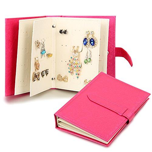 JewelryWe-Joyera-Joyero-de-Pendientes-En-Forma-de-Libro-Guaderno-Caja-Organizador-de-Joyas-Porttil-Little-Book-Of-Earrings-Caja-Para-Pendientes-Bisuteria-Color-Rosa