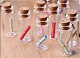 Small Mini Glass Jars with Cork Stoppers - Size: 1-1/2