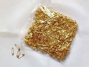 1000 x Gilt doré Petit épingle de sûreté Couture Fabrication de robes L'épinglage Course Numéros