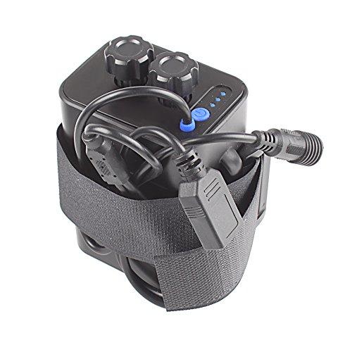 Wasserdicht Akku Pack Schutzhülle 8,4 V 6 x 18650 Batterie mit Gehäuse Cover für Fahrrad Lampe Handy, schwarz