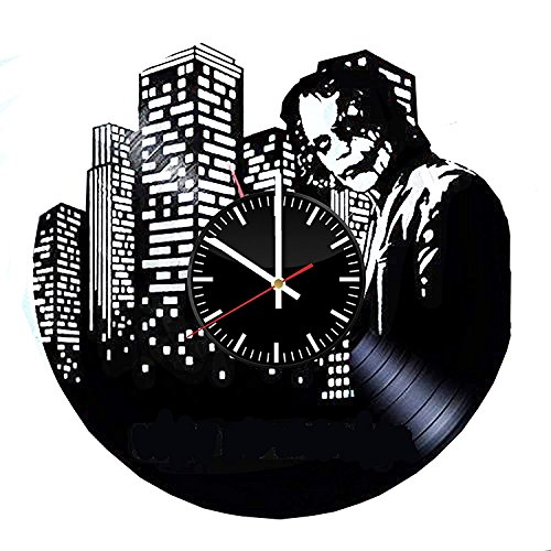 Welcome Everyday Arts Dark Knight Joker Wanduhr aus Vinyl, einzigartiges Design