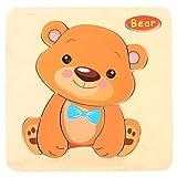 Sonnena Holzpuzzles, Komisch Holzspielzeug Karikatur Tierpuzzle Spielzeug Puzzle aus Holz Spielzeug Lernspielzeug Pädagogische Kinderspielzeug für Kinder ab 1-5 Jahre Alt (A)