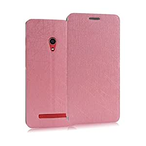 Heartly Premium Luxury PU Leather Back Case Cover For Asus Zenfone 5 (Pink)