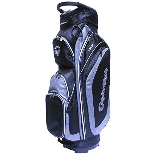 TaylorMade 2017 Corza Cart Bag Mens Golf Trolley Bag 14-Way Divider Black/Charcoal