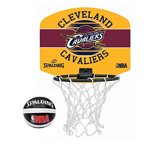 Spalding NBA Team Tragbarer Mini-Basketball-Set, Cleveland Cavaliers