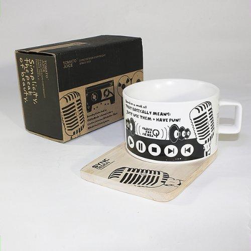 synchronisation - Bois [Studio d'enregistrement] Tasse à espresso/Dessous de Verre (6,3 cm de hauteur)