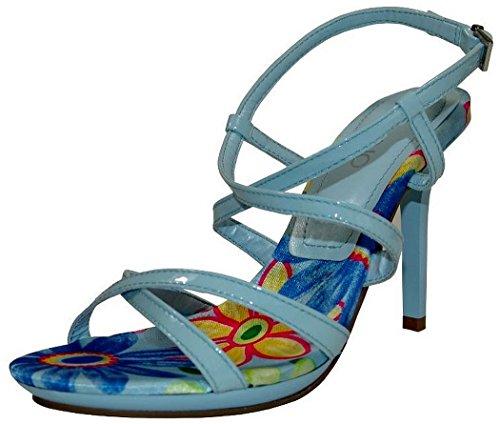 Via Uno Sandalette Lackleder blue Heaven Blue