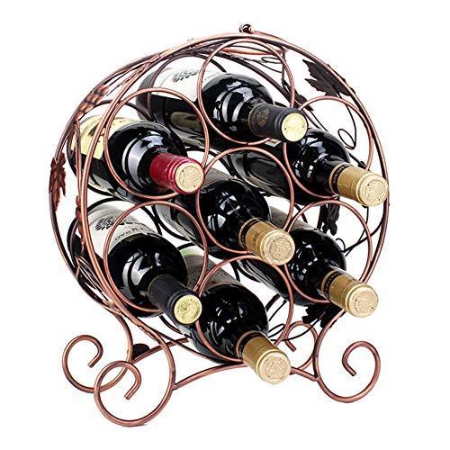 WEHOLY 7 Bouteilles EtagèRes Coupe du Vin Organisateur De PréSentoir De Stockage Stand Suspendu Cave Fer Forgé en MéTal Porte-Bouteilles Armoire à Vin Support De MéNage Plusieurs Bouteilles
