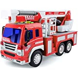 HALO NATION Rescue Fire Engine Truck Toy With Lights Sounds 1:16 Hydraulic Platform Toy - Fire Brigade Truck
