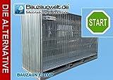 Bauzaun EUTOP 13 kg verzinkt inkl. Betonstein und Verbinder 30er Set und 1 Transportpalette