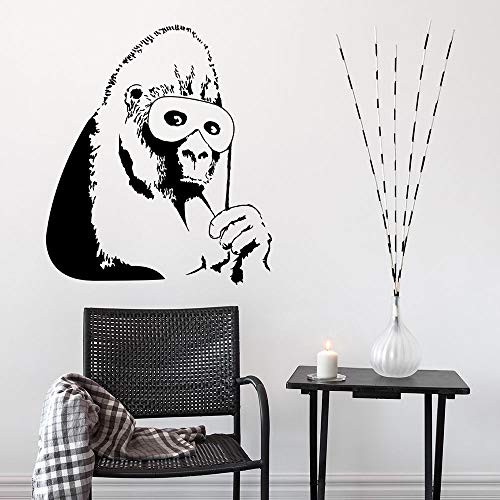 WWYJN Wall Sticker Detachable Monkey Wall Painting Home Decoration Design Vinyl Art red 42x48cm (Red Designs Monkey)