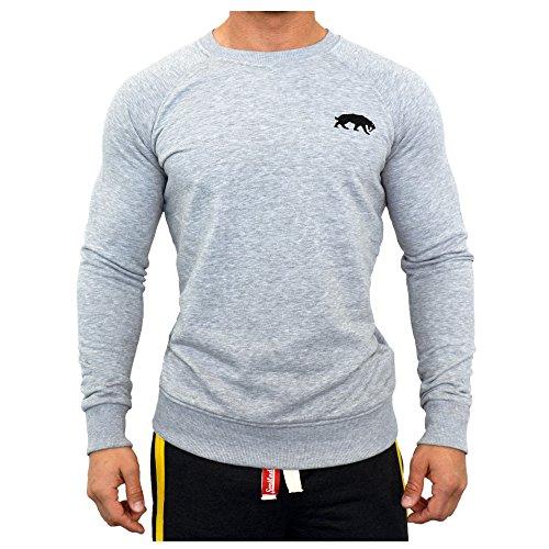 Smilodox Herren Sweatshirt, Größe:S;Farbe:Grau