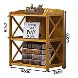 2 Tier Storage Shelf Bookcase Bookshelf Wooden Shelves