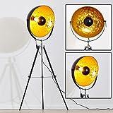 Stehlampe Saturn XXL Farbe gold und schwarz höhenverstellbar Durchmesser 50 cm