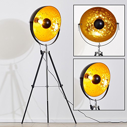 piantana-saturn-oro-nero-regolabile-paralume-mobile-stile-moderno-design