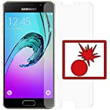 "2 x Slabo Panzerschutzfolie Samsung Galaxy A3 (2016) (SM-A310) NICHT A3 (SM-A300F) Panzerfolie Displayschutzfolie Schutzfolie Folie (verkleinerte Folien) ""Shockproof"" KLAR - unsichtbar MADE IN GERMANY"