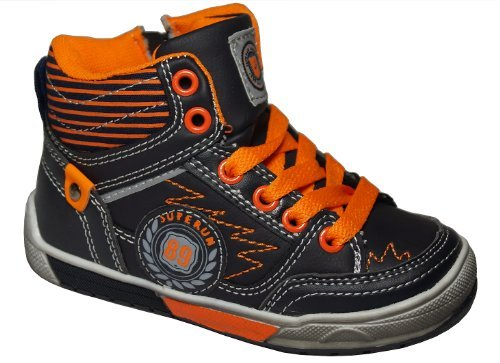 Gibra , Baskets pour homme Noir - Nero / Arancione Neon