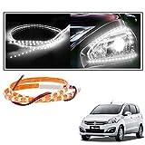 #5: 2 Pc. Vheelocityin 45 cm Waterproof Flexible Tube Strip Car Interior/ Exterior Light - White For Maruti Suzuki Ertiga