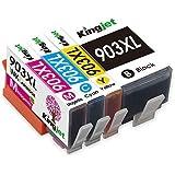 Kingjet Nouvelle Puce 903XL Cartouche d'imprimante Compatible pour HP 903 XL pour HP Officejet Pro 6950 6960 6970 All-in-One