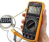Multimetro tester digitale elettronico con puntali cavi guscio professionale