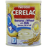 Nestle Cerelac From 7 Months Banana and Wheat with Milk 400 g (Pack of4)