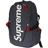 Supreme Italia Rucksack Tasche Bagpack Laptoptasche Streetwear stylisch Dope (blau)