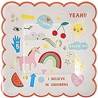 Rainbow Unicorn piatti di carta Luxury Designer