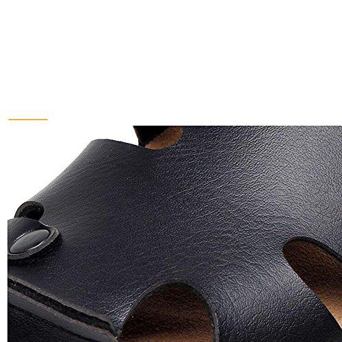Estate Sandali Pantofole estivi uomo / Sandali piatti / Scarpe da spiaggia / Pattini freddi guida / Pantofole maschile in sughero Nero Blu Marrone Bianco Colore / formato facoltativo Nero