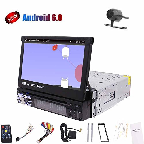 EINCAR 7-Zoll-Einzel Din Android 6.0 Eibisch 1080p HD-Video Removable abnehmbare Panel Car DVD-Player Auto GPS-Navigations-Digital-LED Backlit LCD-TFT-Display mit HD Free Rückspiegel Kamera - Backlit Dvd