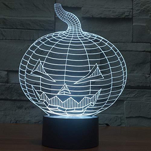Nachtlicht 3D Nachtlicht Schlafzimmer Tischlampe Bunte Note Romantisches Geschenk Halloween Kürbis Geschenk Kreative Lampe Romantische Hauptdekoration
