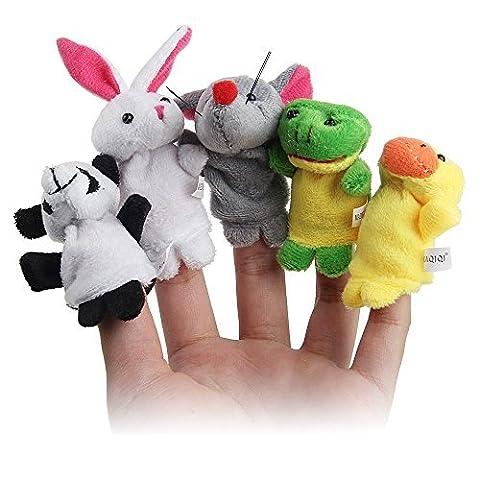 Simplefirst Velours de style animal marionnettes doigt jouet jouets peluche cadeaux pour les histoires de sommeil