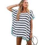 TININNA Estivo Donne Elegante Sexy Chiffon Stripe Beachwear Costumi da bagno Bikini Cover-up Copricostume Spiaggia Vestito Camicetta