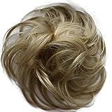 PRETTYSHOP Haargummi Haarteil Zopf Haarverdichtung Scrunchie Hochsteckfrisuren diverse Farben (blond 25)