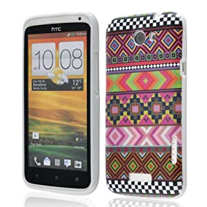 AZTEC DESIGN 2 Tribal Retro TPU Hard Case Cover For HTC ONE X FREE SCREEN PROTECTOR FREE UK SHIPPING