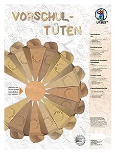 Ursus 9720002Preescolar Bolsa de cartón Kraft para diseñar Incluso, 2Unidades, Aprox. 11,5x 25x 11,5cm, Natural