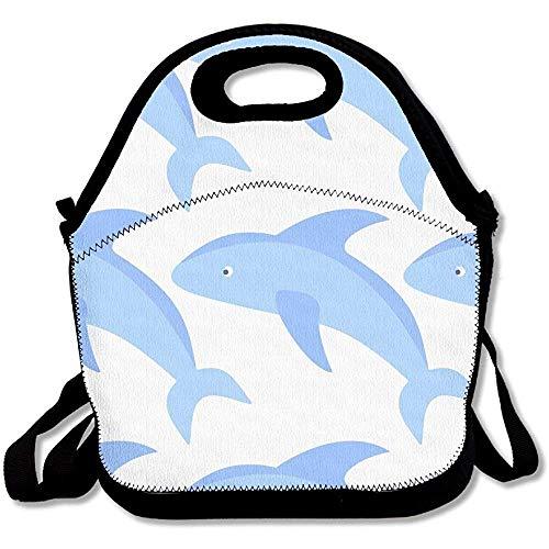 Lunchtasche mit Schultergurt für Damen, Teenager, Mädchen, Kinder, Erwachsene, Blau -