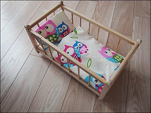 """Preisvergleich Produktbild """"Prinzessin"""" Puppenbett aus Holz mit Zubehör Bettwäsche SET Puppen Bettzeug (7)"""