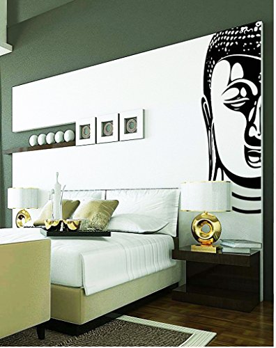 DECOR Kafe Home Decor Decal Style Buddha Wall Sticker, Wall sticker for bedroom, Wall Art, Wall poster (PVC vinyl, 60 X 121 CM)  available at amazon for Rs.599