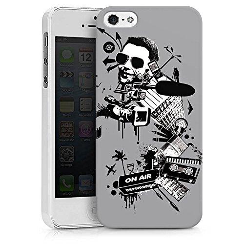 Apple iPhone X Silikon Hülle Case Schutzhülle Kamera Musik Kassette Hard Case weiß