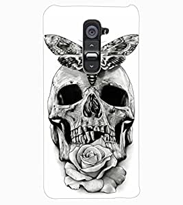 ColourCraft Skull Design Back Case Cover for LG G2